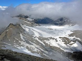 Glacier Rochemelon senza lago effimero