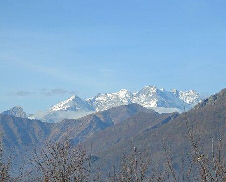 Il Monte Rosa dal Monte Tre Croci