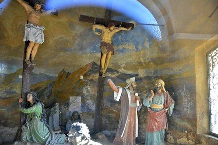 cappella della crocifissione al Sacro Monte di Belmonte