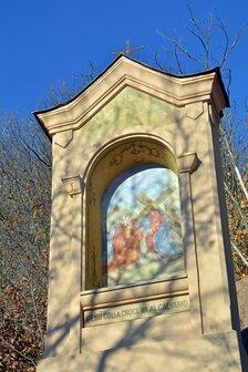 Pilone 9 della via crucis del Sacro monte di Belmonte