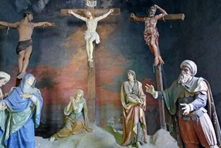 Cappella della crocifissione - Interno