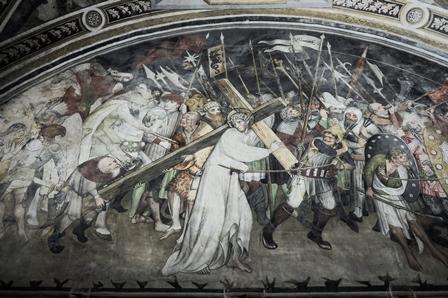 Affresco della salita al Calvario nell'abbazia di Sant'Antonio di Ranverso