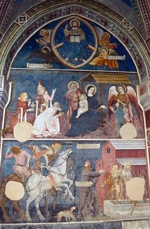 Abbazia Santa Maria di Vezzolano - Affresco leggenda fondazione