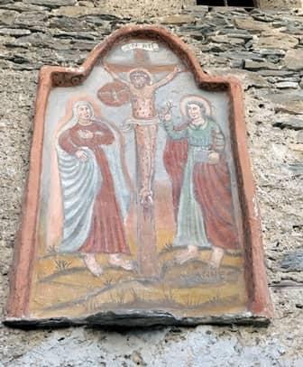 Mistà di Giors Boneto nella Borgata di Ussolo rappresentante la crocifissione