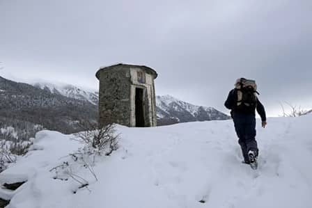 Il pilone Torretta a Villar Sampeyre, in val Varaita