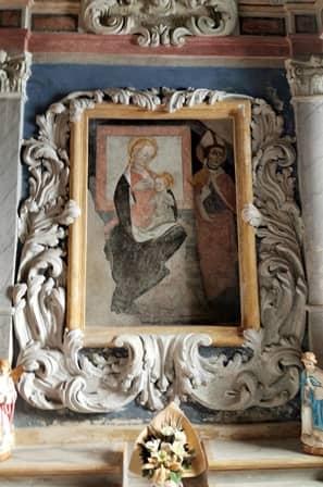 Madonna del latte nella parrocchiale di Coazze