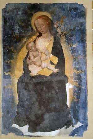 Madonna del latte a San Maurizio di Pinerolo