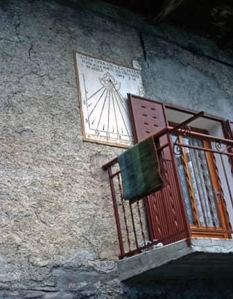 Meridiana a Celle di Bellino in Val Varaita