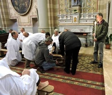 Sacra rappresentazione a Venaus - Lavanda dei piedi
