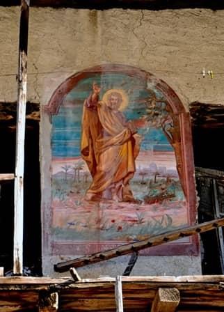 Affresco raffigurante San Bartolomeo
