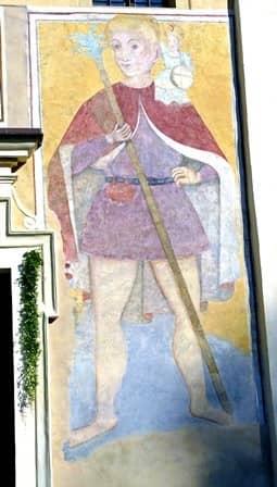 Affresco di San Cristofono a Brondello