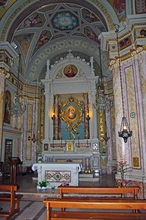 Interno Santuario Madonna delle Grazie a Pinerolo