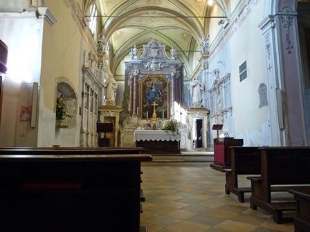 Interno Santuario della Beata Vergine del Carmelo al Colletto di Pinerolo