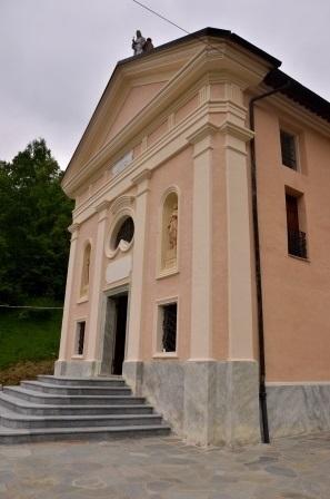 Santuario Madonna di Prascondù-Ribordone - Facciata