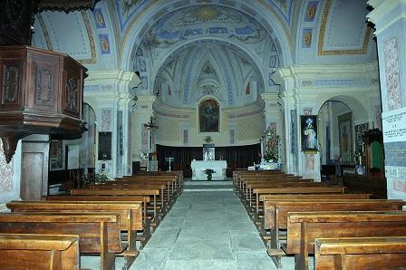 Interno del Santuario Madonna della Neve - Bagnolo Piemonte