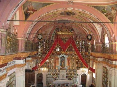 Interno Santuario di Marsaglia a Monastero di Lanzo