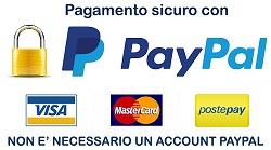 Logo pagamento sicuro con PayPal